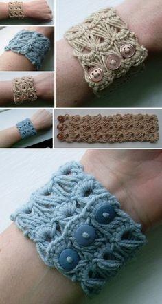 Broomstick Crochet Bracelet Pattern Is An Easy Diy
