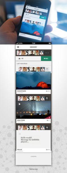 Tuffle iPhone App: Memories / Ihar Gamajunov