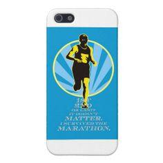 Marathon Runner First Retro Poster Case For iPhone 5/5S