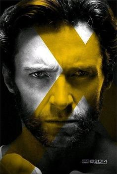Hugh Jackman is Logan aka Wolverine in X-Men: Days of Future Past I especially love the Wolverine in this poster series because he doesn't age. Its quite stunning in contrast to the others. Hugh Jackman, Hugh Michael Jackman, Hq Marvel, Marvel Dc Comics, Marvel Heroes, Captain Marvel, Wolverine Poster, Hugh Wolverine, Wolverine Movie