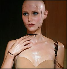 My halloween costume this year is going to be a female robot, my makeup is going to look kinda like this- i'm excited!