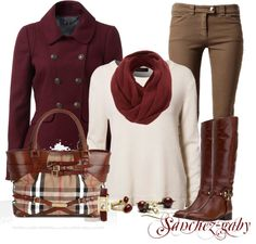 """""""Burgundy military jacket"""" by sanchez-gaby on Polyvore"""