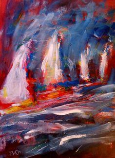 "Saatchi Online Artist K McCoy; Painting, ""Sailing Away - Abstract Art"" #art"
