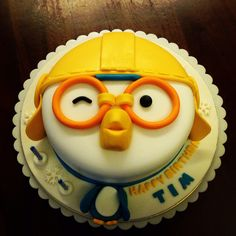 pororo themed cake Arctic Penguins, Themed Cakes, Kids Meals, Baking, Desserts, Ideas, Food, Theme Cakes, Tailgate Desserts