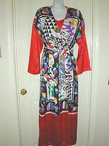 Vintage MARY McFADDEN 2 Piece Long Nightgown & Lounging Robe Set Size Small