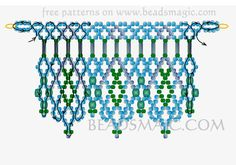 Free pattern for beaded necklace Greenland U need: seed beads 11/0 bugles beads faceted chezh