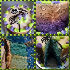 Nightmare Before Christmas Baby Shower Cake. WASC Cake done in ombre blue, all buttercream with airbrushing