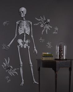 We're not making any bones about it, this skeleton wall decal is dying to hang out at your next #Halloween party.