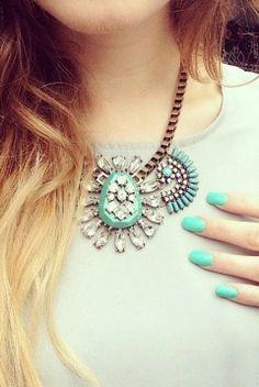 Ocean Blue Statement Necklace 24,90 € #happinessbtq