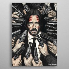 Amazing John Wick Poster For Keanu Reeves Fans! John Wick Hd, John Wick Movie, Canvas Art Prints, Painting Prints, Canvas Wall Art, Zombie Drawings, Pop Art Zombie, Keanu Reeves John Wick, Buy Art Online