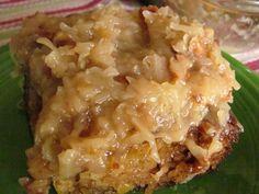 Pineapple, coconut-pecan crust Dump Cake