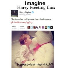 Find images and videos about baby, Harry Styles and imagine on We Heart It - the app to get lost in what you love. Harry Styles Imagines Darcy, One Direction Imagines, One Direction Videos, One Direction Harry, One Direction Humor, One Direction Pictures, Kendall And Harry Styles, Harry Styles 2012, Harry Styles Funny