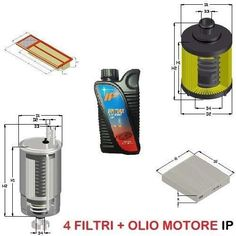 KIT FILTRI +4LT OLIO ALFA MITO 1.3 JTDM 70KW 95CV MOT. 199B1000 DA 11/09 UFI
