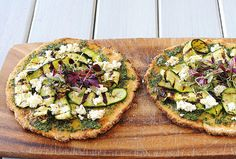 Almond Cauliflower Flatbread with Mint Pesto / Dis-Chem - Pharmacists who care Pharmacists, Avocado Toast, Pesto, Cauliflower, Almond, Healthy Eating, Mint, Healthy Recipes, Dishes
