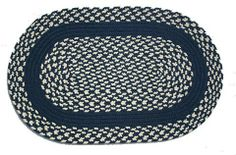 Oval Braided Rug (2'x3'): Navy & Cream - Navy Band by Stroud Braided Rugs. Save 11 Off!. $59.00. Durable, high-quality, long-lasting material. Stain resistant and machine washable (lay flat to dry). Indoor or outdoor use on any surface (wood, tile, brick, etc). Reversible and fade resistant (color goes all the way through each fiber, not just on top). Hand-crafted in North Carolina. This high-quality rug is hand-crafted by American workers at Stroud Braided Rugs - a family-owned ...