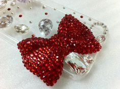 New Bling Sparkle Big Bow Big Rhinestones Clear iPhone by Mobimoda, $22.99