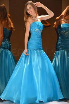 Gorgeous Mermaid Floor-Length Strapless Prom Dress