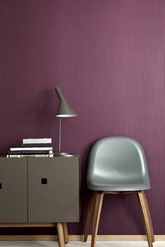 papier peint de couleur prune pour votre interieur chic