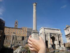 """Rom zum Greifen nahe (siehe Foto), denn """"Die Welt ist ein Buch. Wer nie reist, sieht nur eine Seite davon."""" (Augustinus Aurelius)"""