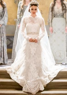 Pin on Reign Queen Wedding Dress, Wedding Dress Trends, Wedding Gowns, Movie Wedding Dresses, Marie Stuart, Reign Dresses, Rembo Styling, Reign Fashion, Traditional Gowns