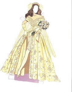 WEDDING FASHION PAPER DOLLS  Date:1993  Publisher: Dover; Artist: Tom Tierney; Format: 12 pages, 2 dolls | 8 of 14