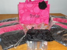 Great ideas from Thirty One for the Bride and Bridesmaids gifts. Ruffle Mini Zipper Pouches with wristlet strap.