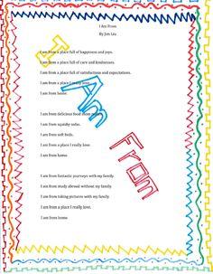 I am from poem - Jim Liu