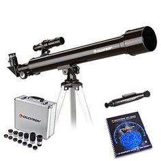 Celestron PowerSeeker Telescope Bundle comes with refractor telescope with starter scope designed and fully coated glass optical components and high transmission coatings for enhanced image brightness and clarity. Gifts For Boss, Telescope, Clarity, Glass, Image, Design, Drinkware, Corning Glass