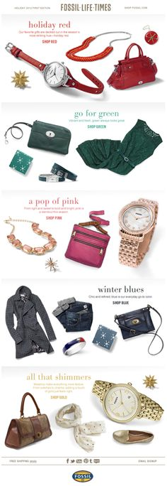 Fossil email - holiday color story