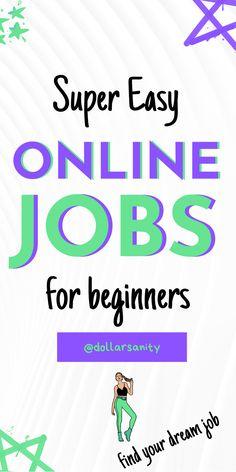 Legit online jobs for beginners for extra cash. Find your dream job online! Online Earning, Earn Money Online, Ways To Earn Money, Way To Make Money, Real Online Jobs, Money Makers, Extra Cash, Dream Job, Business Marketing