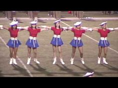 Rangerette Performing their Kick Routine