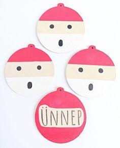 Természetes karácsony - egyedi fa díszek kézzel festve - Mom With Five Fa
