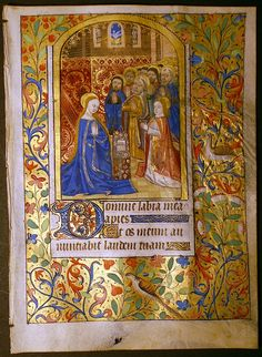 Illuminated Manuscript  France c. 1470  Medium:Tempera and gold on Vellum  Title:Medieval Painting of The Pentecost