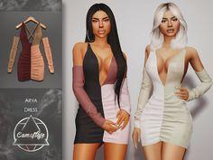 Sims 4 Tsr, Sims Cc, Sims 4 Mods Clothes, Sims 4 Clothing, Xenia Dresses, Sims 4 Studio, Sims 4 Dresses, Sims Hair, Elegant Dresses