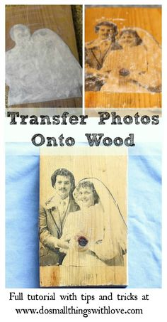complete tutorial for transferring a photo onto wood.  Click through now for the full tutorial.