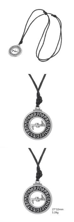Dawapara Elder Futhark Runes Eihwaz And Naudhiz Combination Turkish Jewelry Norse Viking Pendant Necklace Men WICCA Jewellery
