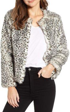 e4a67c8407c9 Cupcakes And Cashmere Faux Leopard Fur Jacket