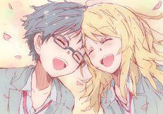 Anime manga : Shigatsu wa kimi no uso | Arima Kousei, Miyazono Kaori | cute, art