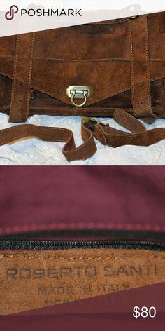 Suede Italian suede purse Roberto Santi made in Italy beautiful, gently used handbag. Roberto Santi Bags Shoulder Bags