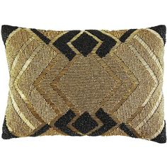 Pier 1 Imports Yellow Beaded Modern Lumbar Pillow ($25) ❤ liked on Polyvore featuring home, home decor, throw pillows, pillows, yellow, yellow home decor, pier 1 imports, beaded accent pillows, modern home decor and yellow toss pillows