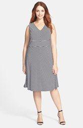 Calvin Klein raya Mate Jersey de cuello V-Dress (Plus Size)