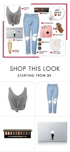 """""""All About Me"""" by bubblybeauty135 ❤ liked on Polyvore featuring Topshop, Clarins, Vinyl Revolution and allaboutme"""