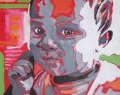 A PERSONNALISER - Bapteme : Peinture entièrement fait main à partir d'une photo : Décorations murales par lcdc