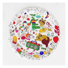 8 ASSIETTES EN CARTON A COLORIER Plates, Tableware, Dinner Plates, Creative Crafts, Licence Plates, Dishes, Dinnerware, Plate, Tablewares