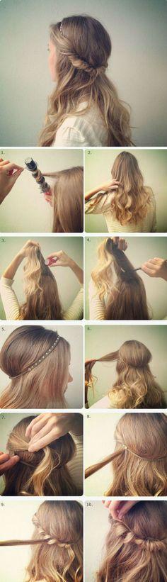 tutorial cabelo romantico