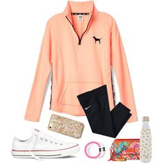 Read Description! by tessabear-prepster on Polyvore featuring polyvore, fashion, style, Victoria's Secret PINK, Converse, S'well, NIKE, Vera Bradley and clothing