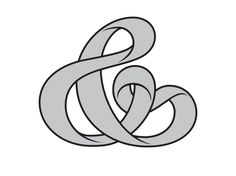 Mobius strip ampersand!! It does not get nerdier than this. I LOVE IT!