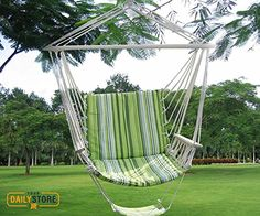 Green Leisure Swing Hammock Hanging Outdoor Chair Garden Patio Yard Max -- Visit the image link more details. (This is an affiliate link) Hanging Swing Chair, Hammock Swing Chair, Swing Seat, Hammock Stand, Swinging Chair, Hanging Chairs, Outdoor Chairs, Indoor Outdoor, Outdoor Living