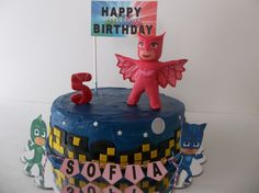 PJ Masks Cake Topper, PJ Masks Fondant Cake Topper by SweetIndulgments on Etsy