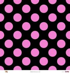 Megadots : Black On Pink Large Polka Dot 110lb Scrapbook Paper
